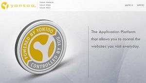 YONTOOのホームページ柄。