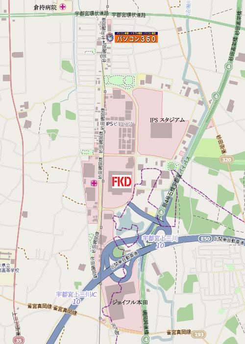 インターパーク広域地図
